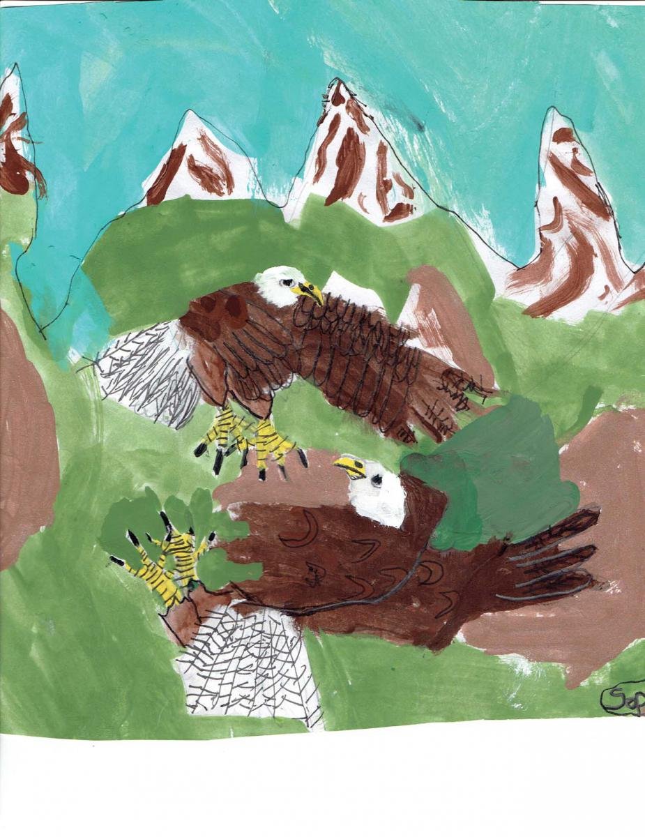 November- Sophie, Gr. 2, Quesnel (Bald Eagles)